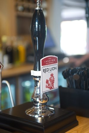 The Red Lion: Our own bitter, generously brewed locally by The Langton Brewery!