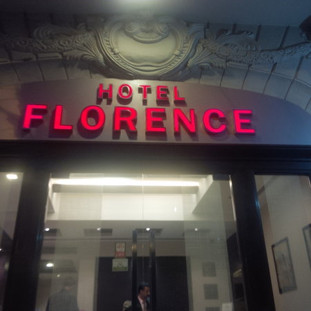 Hotel Florence: enterance of the hotel