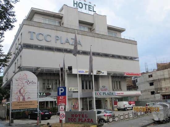 TCC Plaza Hotel: Front view on the hotel