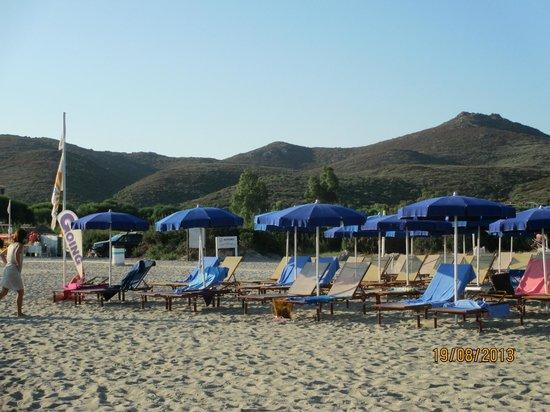 Club Valtur Colonna Beach : La spiaggia riservata all'hotel.