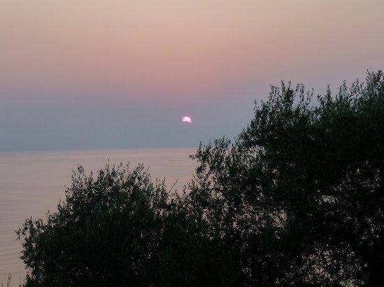 Dimitra Studios: Sunrise from balcony