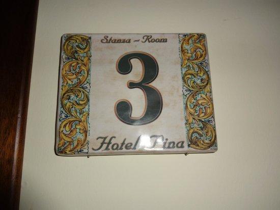 Hotel Pina: Ma chambre (lit double)