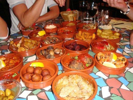 La Peña Andaluza: assortiment de tapas