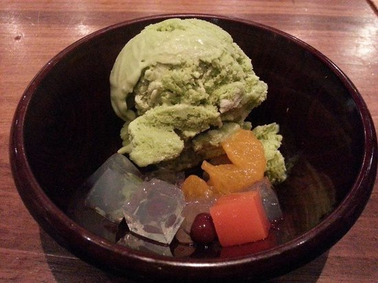 Inakaya: Green Tea Ice Cream