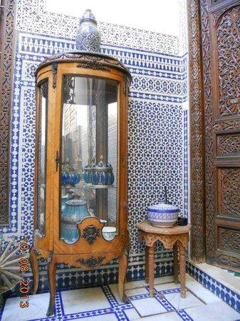 Riad Souafine : Il patio (dettaglio)