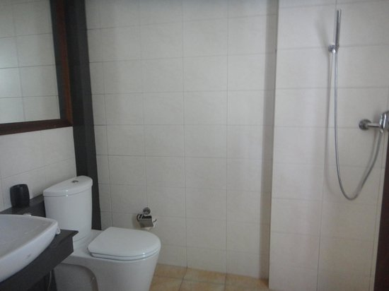 DACE: bagno grande ma doccia aperta e niente saponi