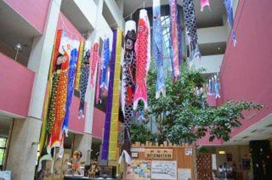 Hinotani Onsen Misugi Resort: フロントの前の飾りつけ