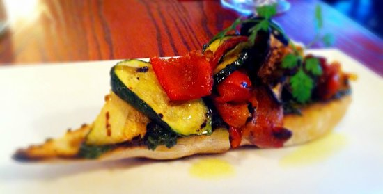 Two Chefs Bistro: Vegetables, especially Eggplant was dehydrated, like cardboard - cheap bread.