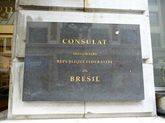 Grand Hôtel Bellevue : Plaque on one side of the door!