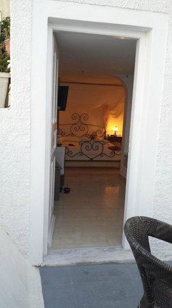 Nomikos Villas: Our room from balcony