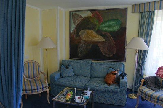 Alpenhotel Quadratscha: Wohnbereich einer Juniorsuite