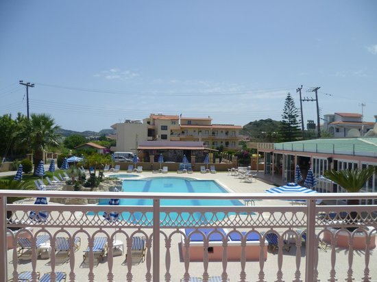 Rhodian Rose Hotel: view from our room