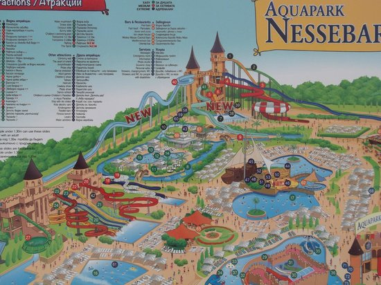 Nessebar, Bulgarije: map of water park