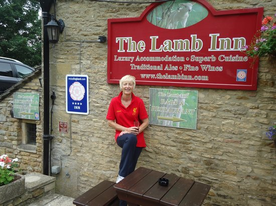 The Lamb Inn: Well deserved drink after our 20 mile bike ride.