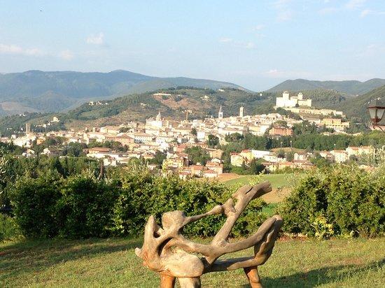 Il Sogno: Zicht op Spoleto