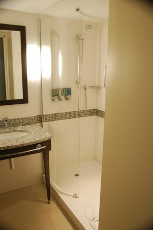 Hampton by Hilton Newport East: big shower