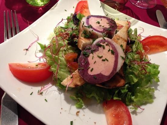Le Saint Pelerin: magret de canard farci au foie gras