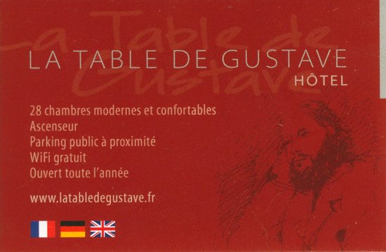 La Table De Gustave: carte
