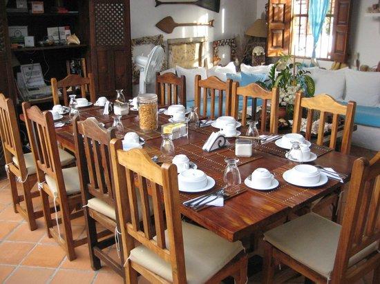 Posada La Movida: Nossa mesa para o Cafe da Manha