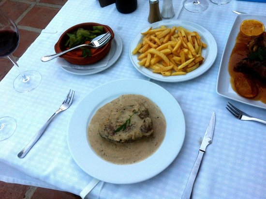 La Noria : Solomillo a la Pimienta - fillet steak with pepper sauce