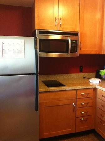Residence Inn San Antonio Six FlagsR at The RIM: full size fridge, microwave, & 2 burner cooktop