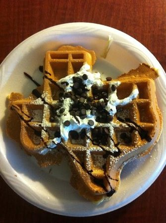 Residence Inn San Antonio Six FlagsR at The RIM: delicious make-your-own waffles