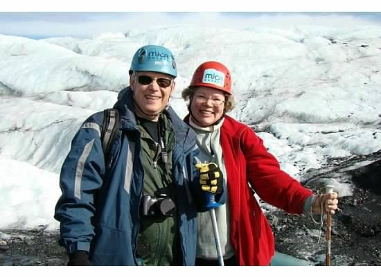 Adventure Alaska Tours: Donna and Vic on glacier