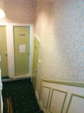 Fairways Hotel : Vista del aseo desde la planta de la habitación