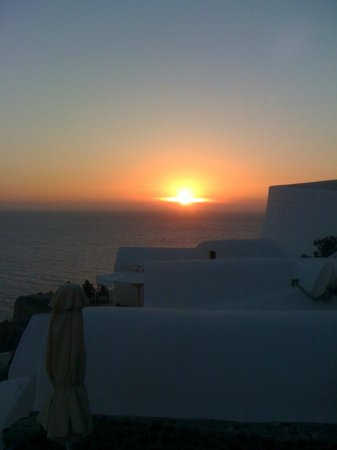 Esperas Santorini: The sunset view from our room's balcony