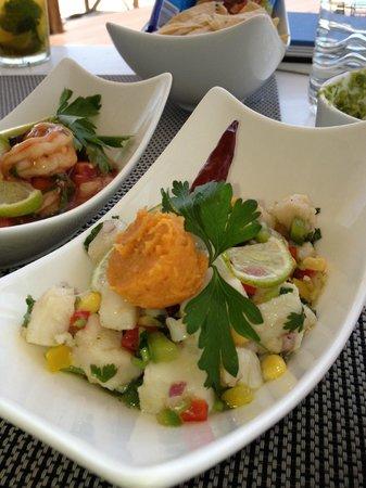 Blue Diamond Luxury Boutique Hotel: Peruvian ceviche at Ceviche Bar