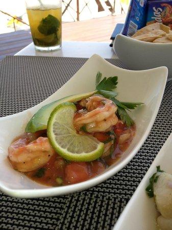 Blue Diamond Luxury Boutique Hotel: shrimp ceviche at Ceviche Bar