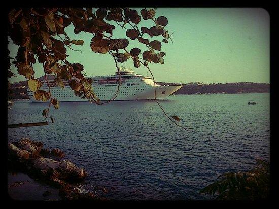 Sea of Eden: ferry passing