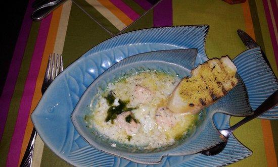 Restaurant Aubergine : Entrata Salmone e gamberetti