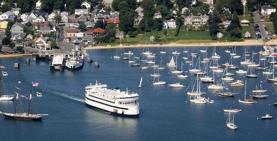 Woods Hole, Массачусетс: M/V Island Home coming out of Vineyard Haven