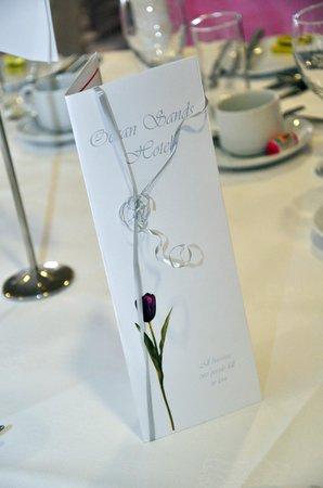 Ocean Sands Hotel: Wedding Menu