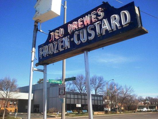 Ted Drew's Frozen Custard : Distinctive sign!