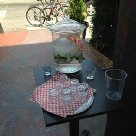 Pancho Y Emiliano: tasty water available outside