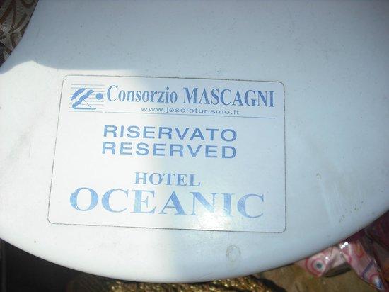 Hotel Oceanic: posto spiaggia