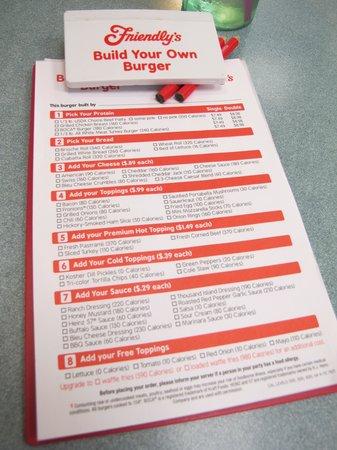 Friendly's: menu 2