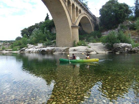 Kayak Vert : départ de Collias