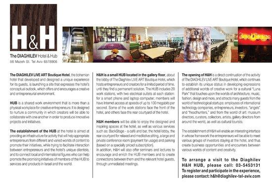 The Diaghilev, LIVE ART Suites Hotel: Communicat