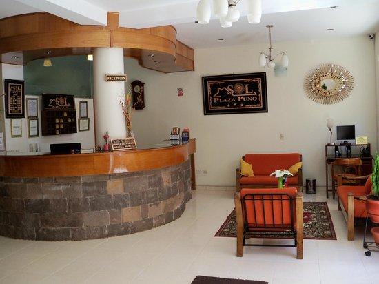 Sol Plaza Hotel Puno: Recepcion