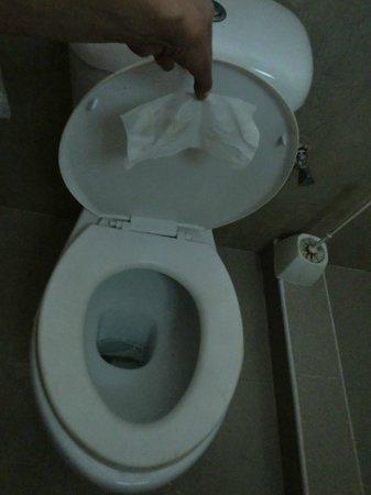 White Beach Hotel Zanzibar: notre nettoyage lunette des WC à l'arrivée