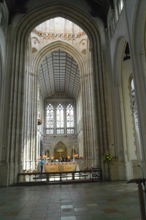 St. Edmundsbury Cathedral: Nave looking towards alter.