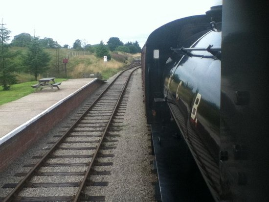 Pontypool and Blaenavon Railway: Cab view from No.72