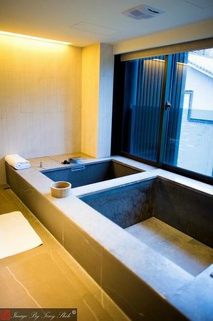 Grand View Resort Beitou: Hot spring tub & cold tub