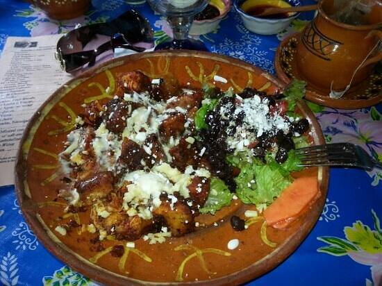 Luna Luna: Chicken Tamales hashed in Chipotle salsa
