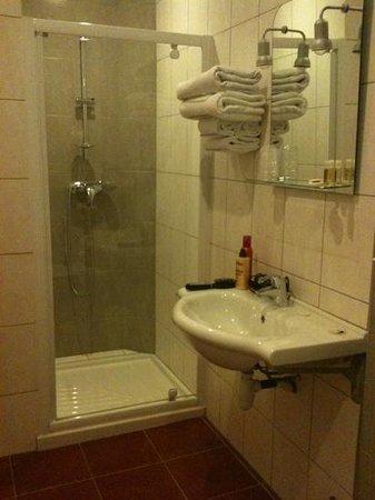 Hotel Restaurant Le Castel Fleuri : la salle de bain