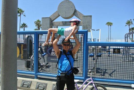 26-Mile Bike Path: Muscle beach
