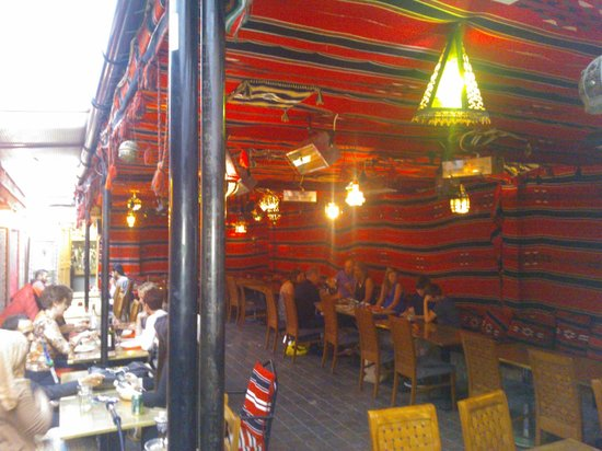 Tarboush Cafe: The outdoor tent
